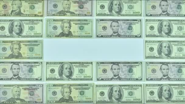 animated frame made of dollars