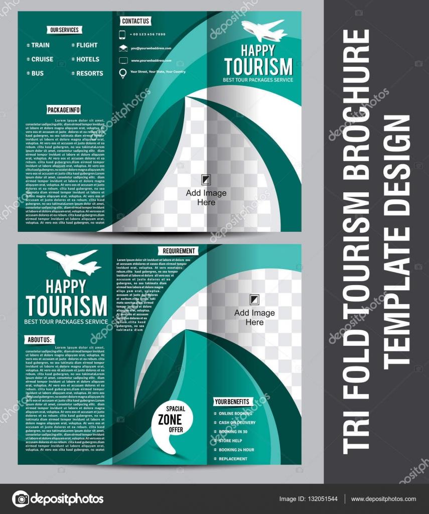 Tri Fold Tourism Brochure Template Design — Stock Vector © gurukripa ...