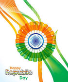 indian republic day wave abstract background