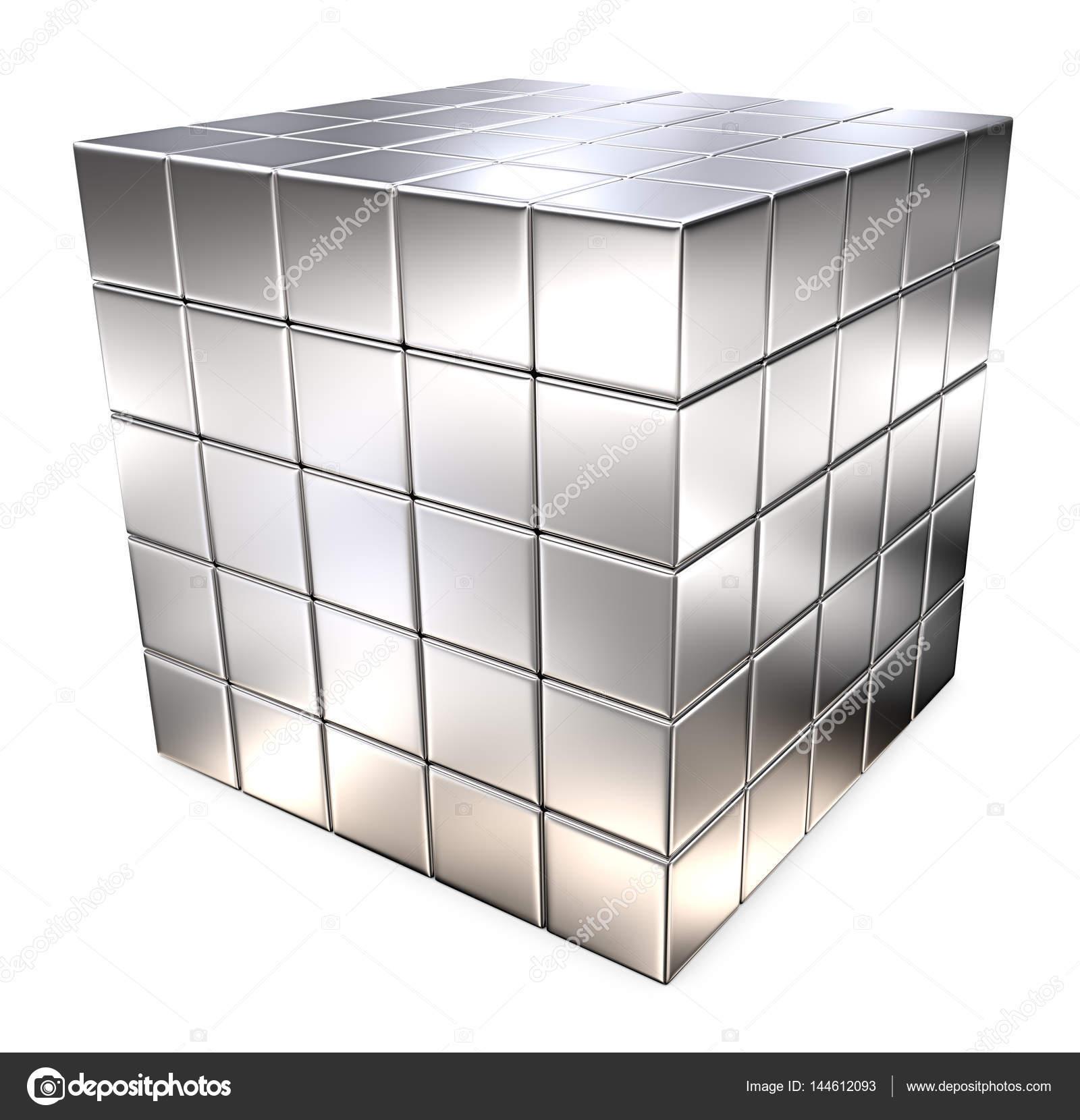 Cubo Di Metallo.Cubo Di Metallo Di Grandi Dimensioni Foto Stock C Johanh