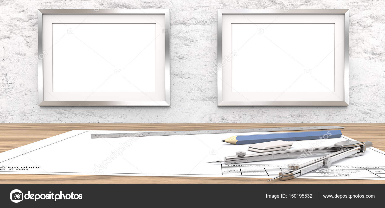 Blank drawings and Frames for copy space. — Stock Photo © JohanH ...