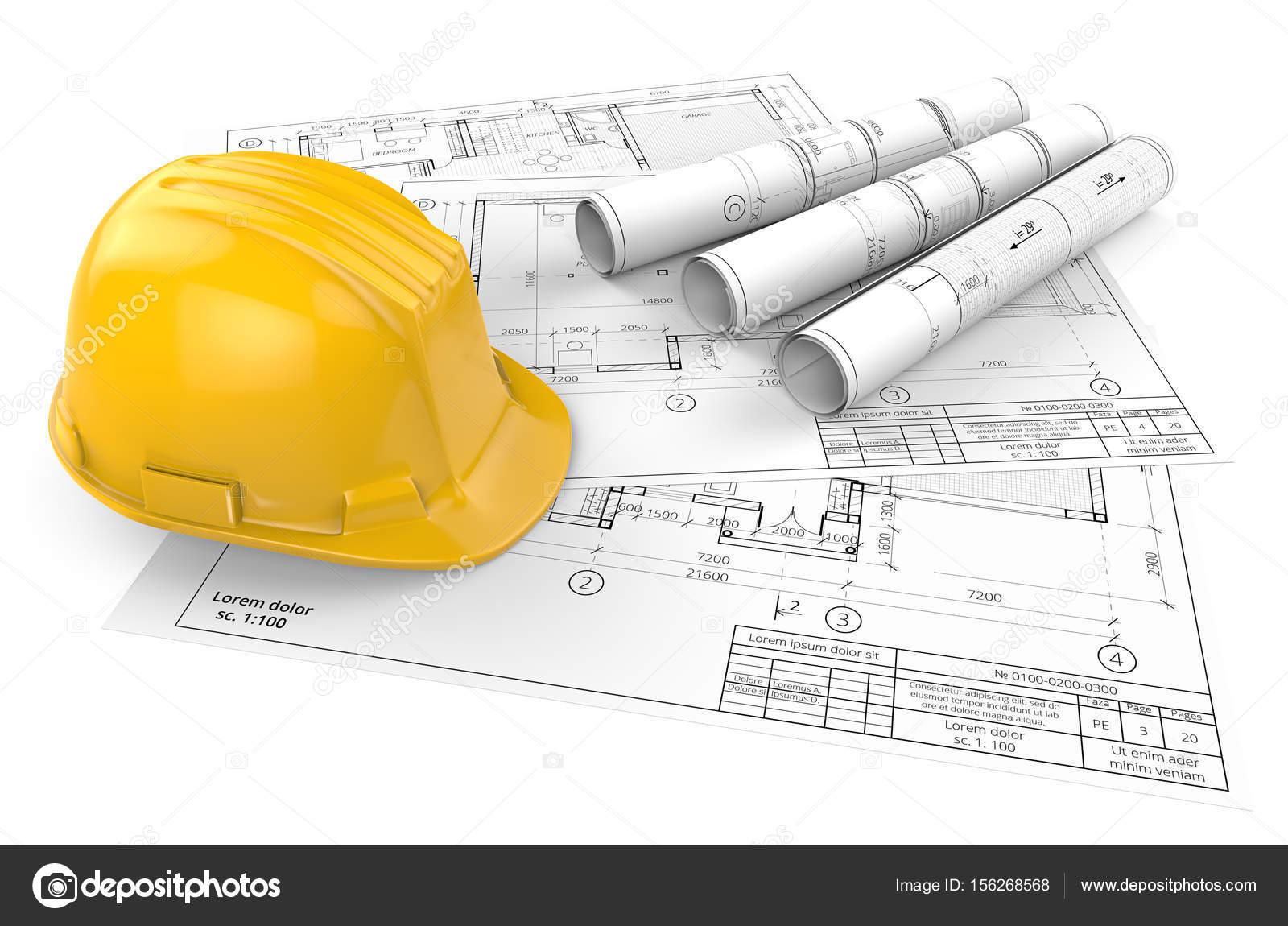 Progetti architettonici 3d e l 39 elmetto protettivo foto for Progetti in 3d gratis