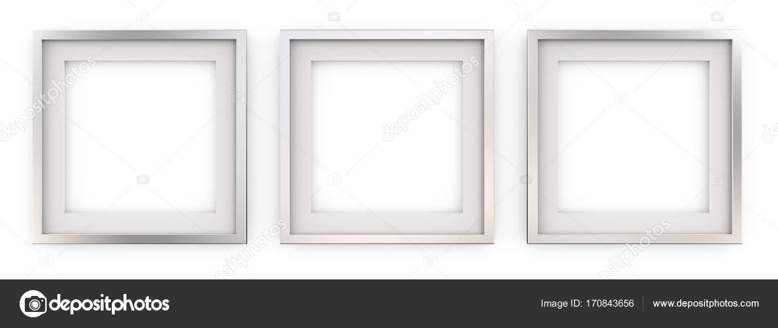 3 quadratische Bilderrahmen aus Metall — Stockfoto © JohanH #170843656