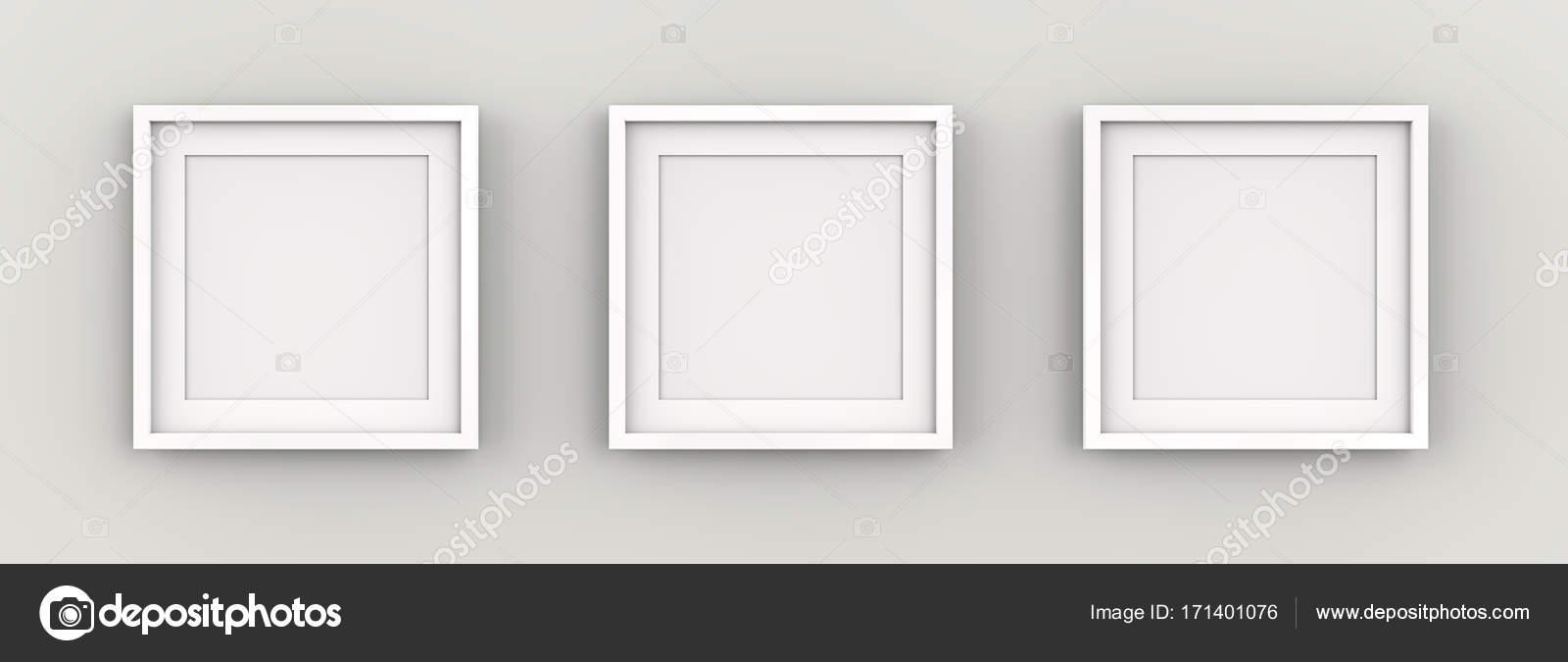 White Picture Frames on Wall. — Stock Photo © JohanH #171401076