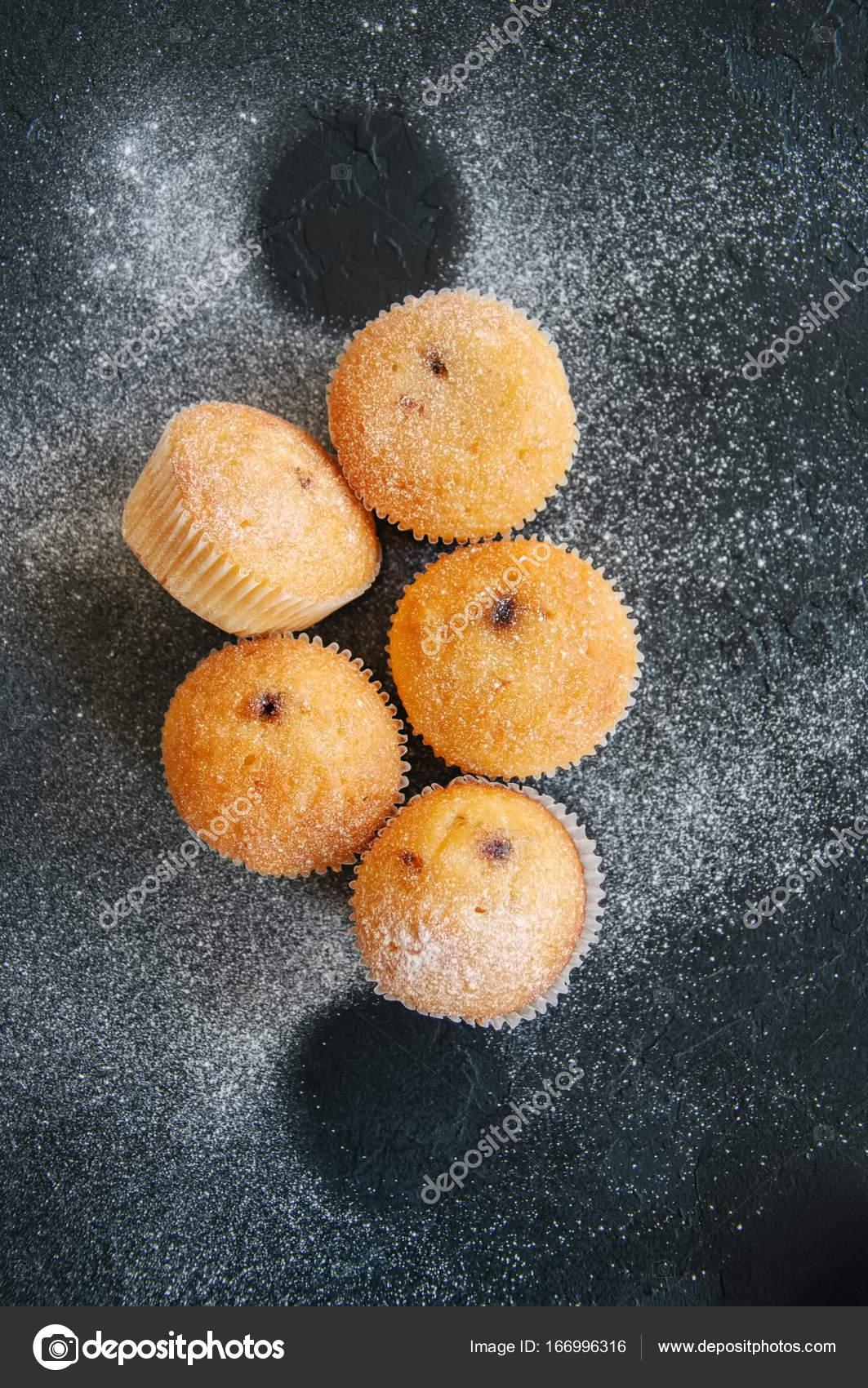 muffins med fyllning vanilj