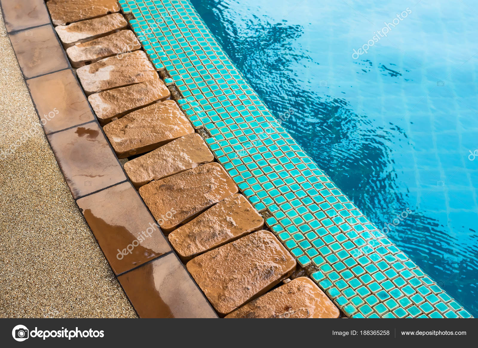 Swimming pool with cement blocks — Stock Photo © Appstock ...