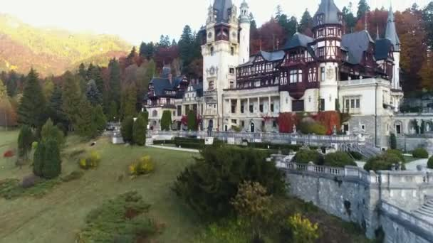 Aerial photography, Peles castle, Romania