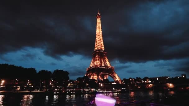 The Eiffel Tower is a symbol of Paris and France. Evening Summer 2019