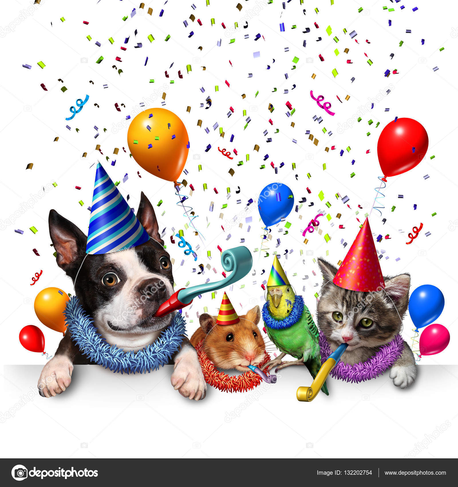 Dogs And Cats Celebrating