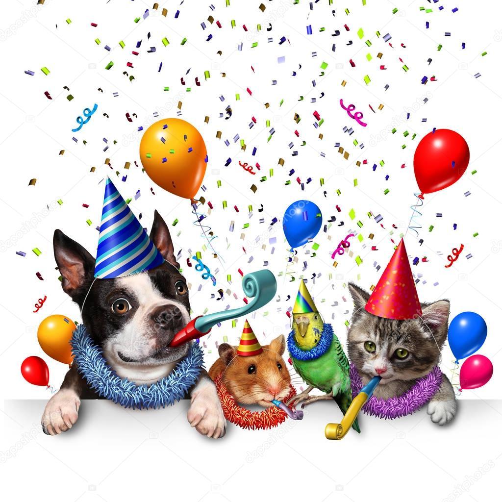Imágenes: Feliz Cumpleaños Con Perros Y Gatos