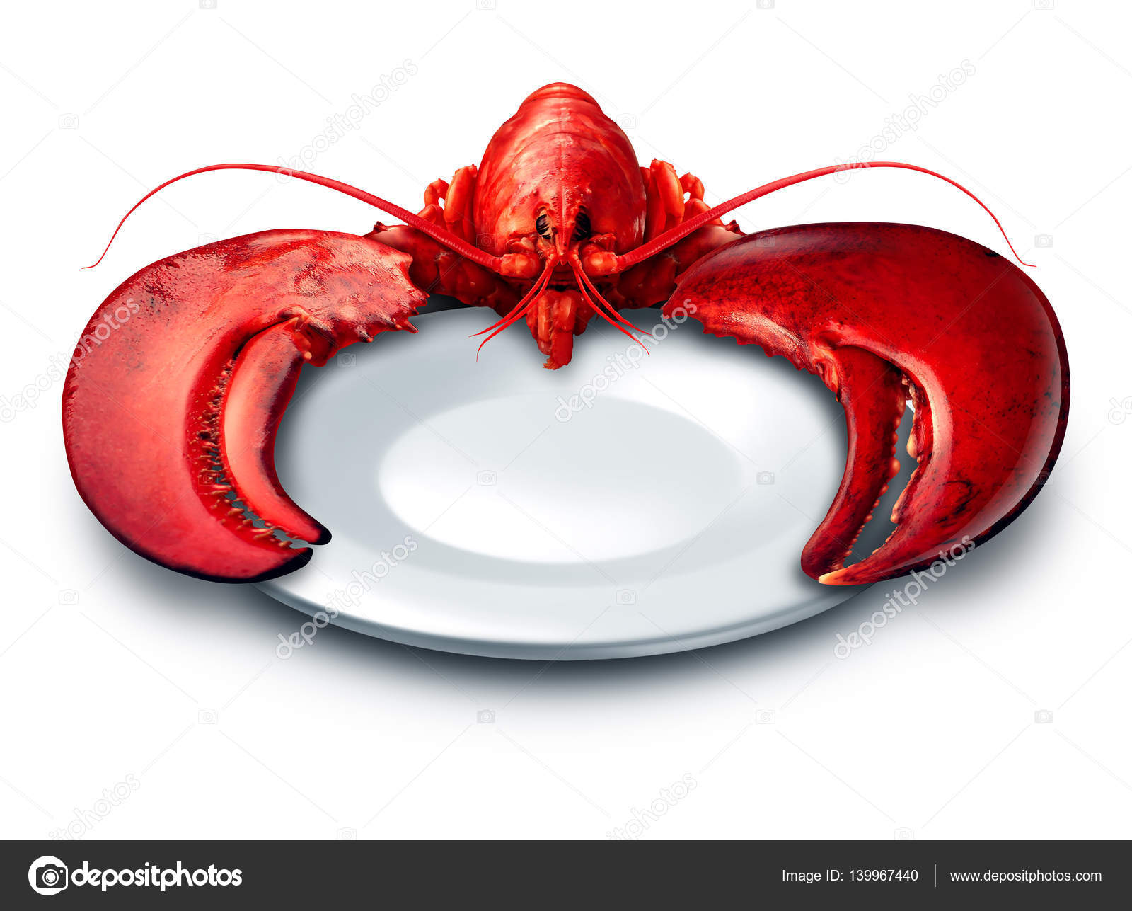 Lobster Plate Symbol Stock Photo Lightsource 139967440