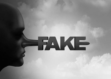 Fake Media Concept