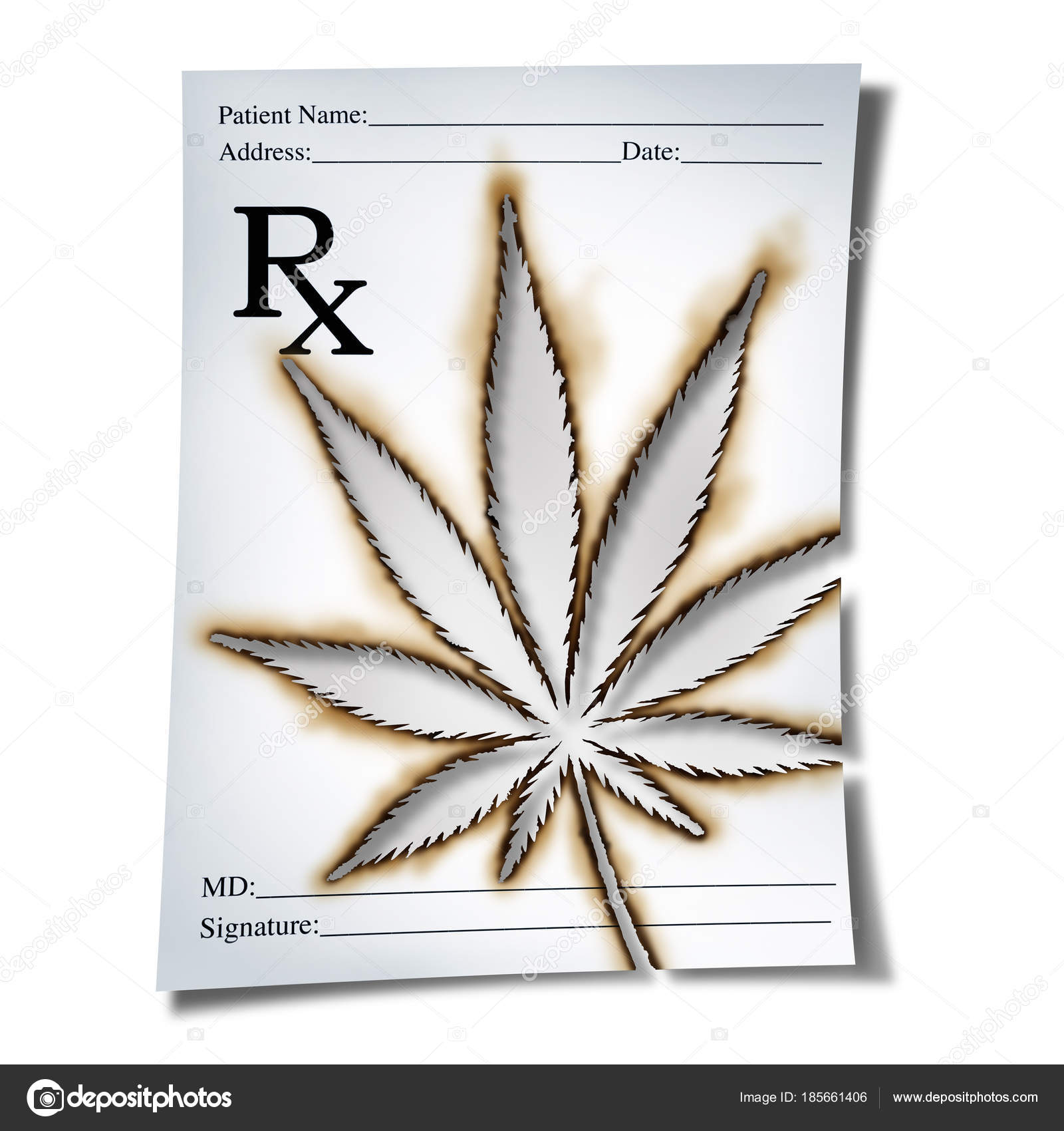 Marijuana Medical Prescription Stock Photo Lightsource 185661406