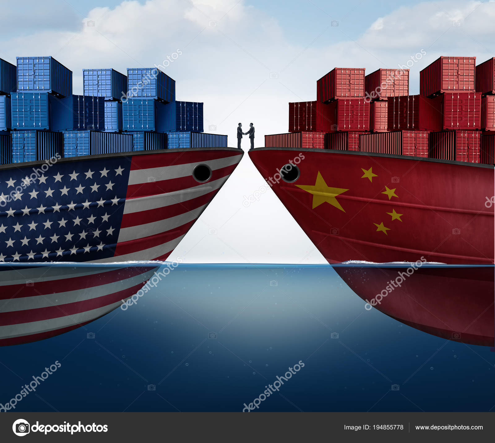 China United States Trade Agreement Stock Photo Lightsource