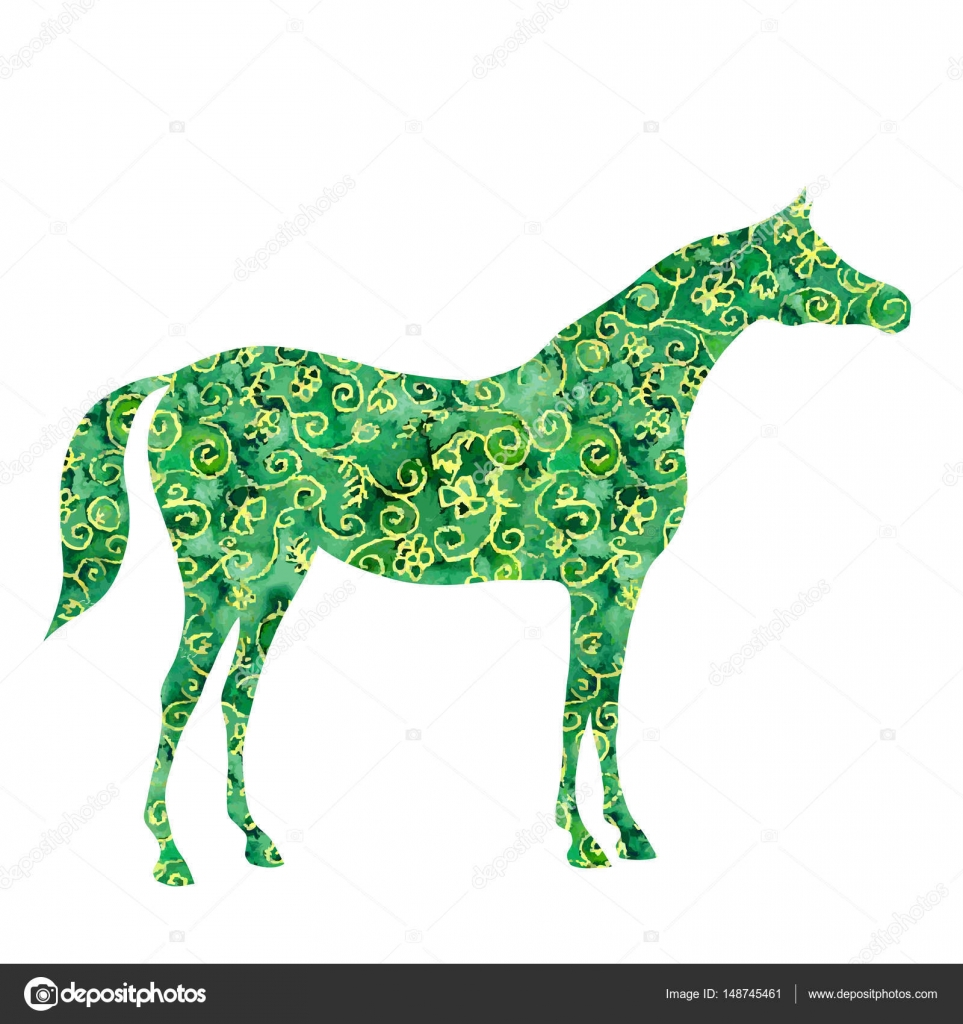 Acuarela caballo árabe — Archivo Imágenes Vectoriales ...