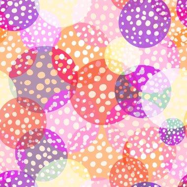Amount circles seamless beautiful pattern.
