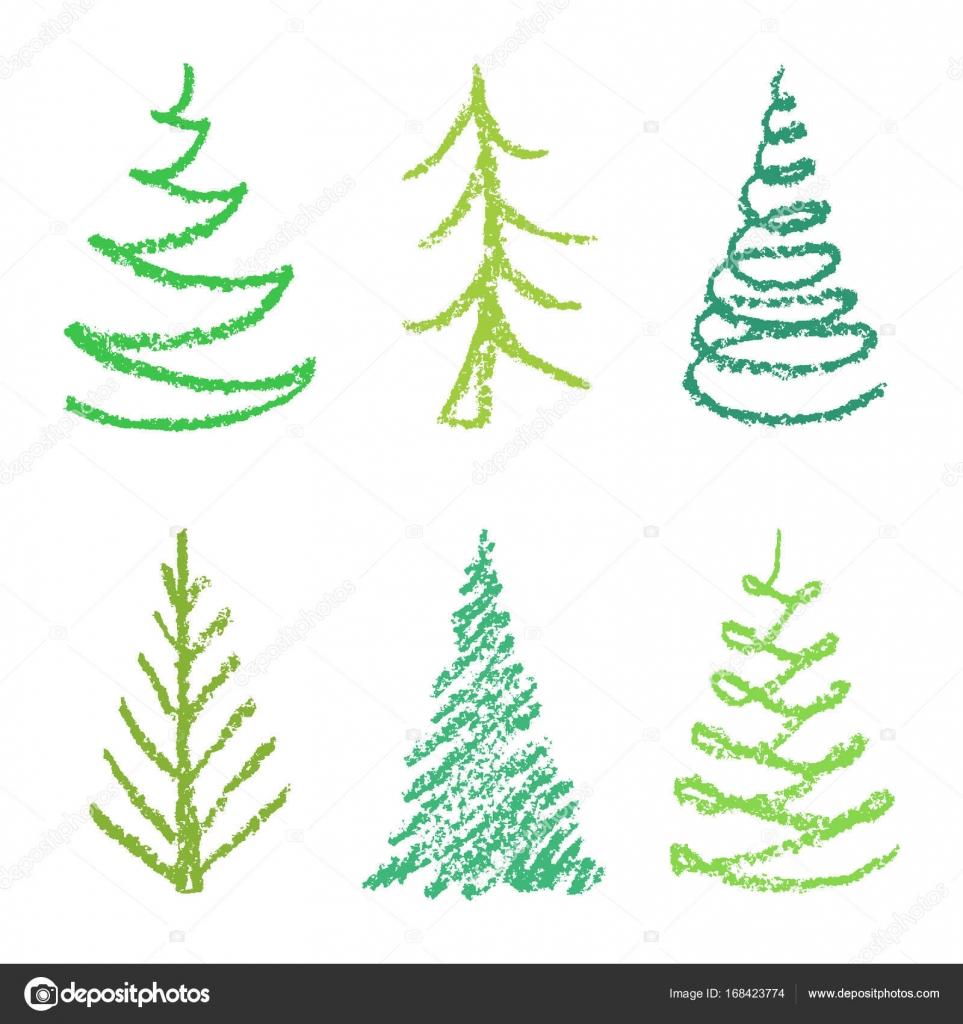 Dibujos Arboles De Navidad Para Imprimir A Color Lapiz De Dibujo