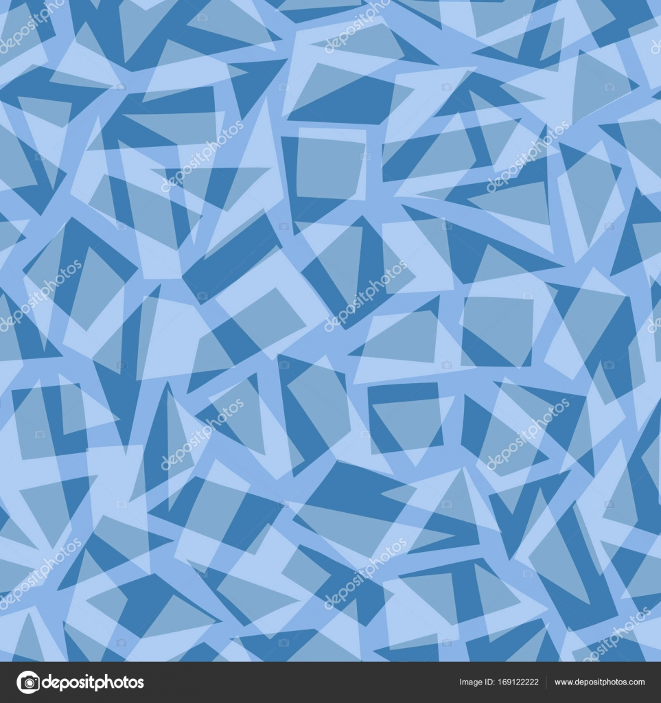 Abstract Pattern With Blue Frozen Geometric Shapes Stock Vector