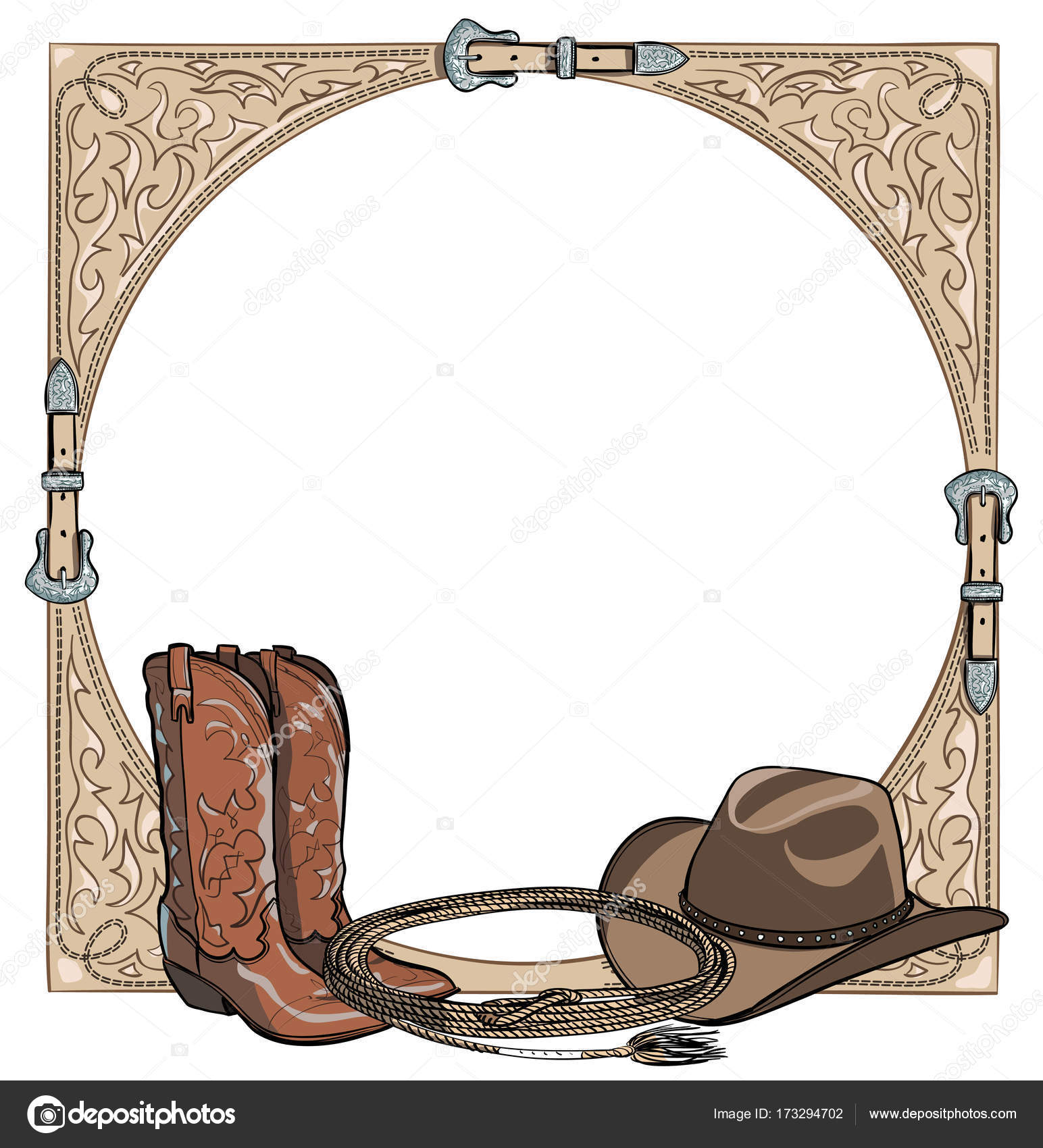 Pictures Western Horse Drawing Cowboy Western Horse Equine Riding Tack Tool In The Western Leather Belt Frame Stock Vector C Larisa Zorina 173294702