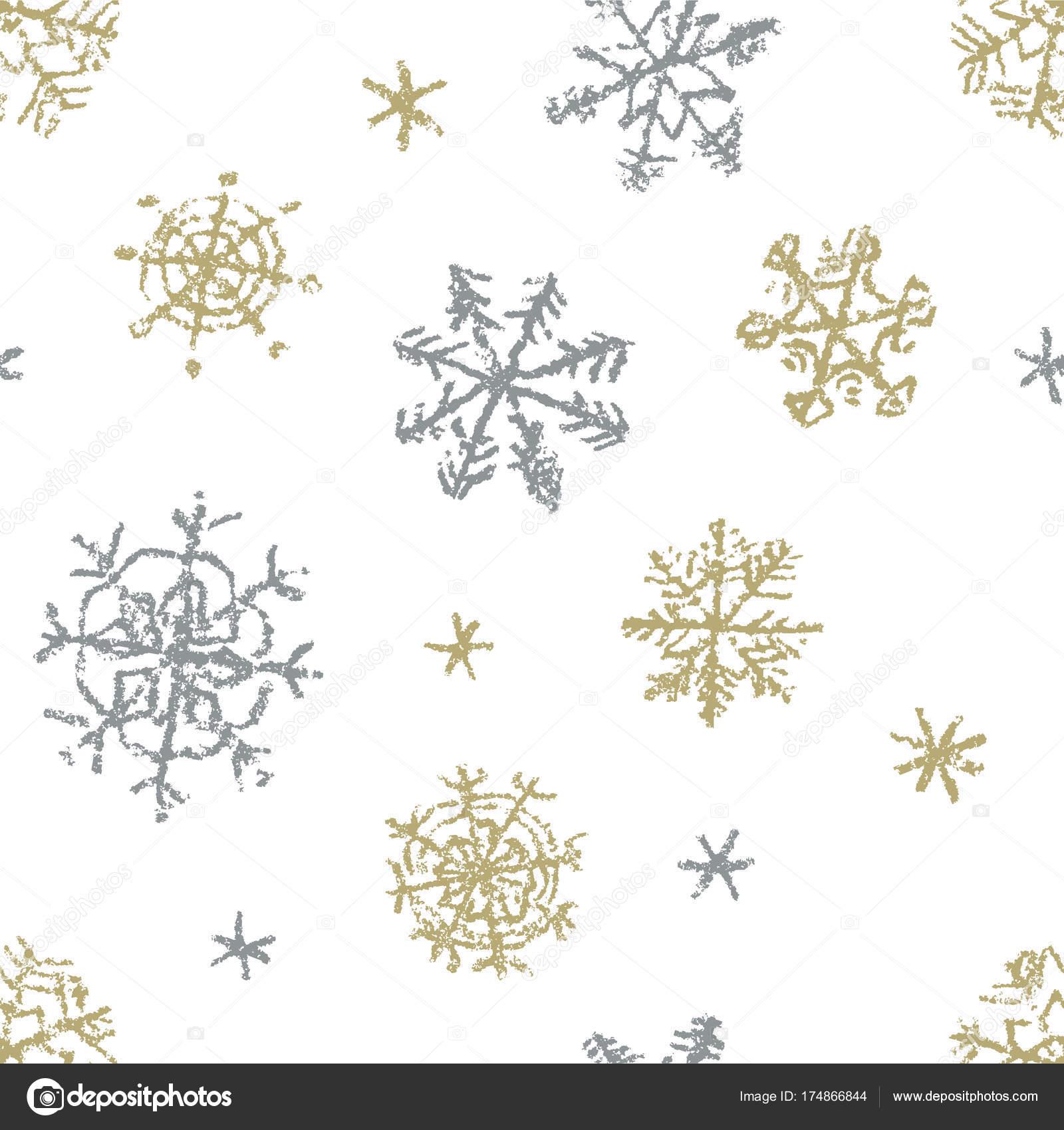 main flocon neige noël dessin modèle sans couture sur blanc image