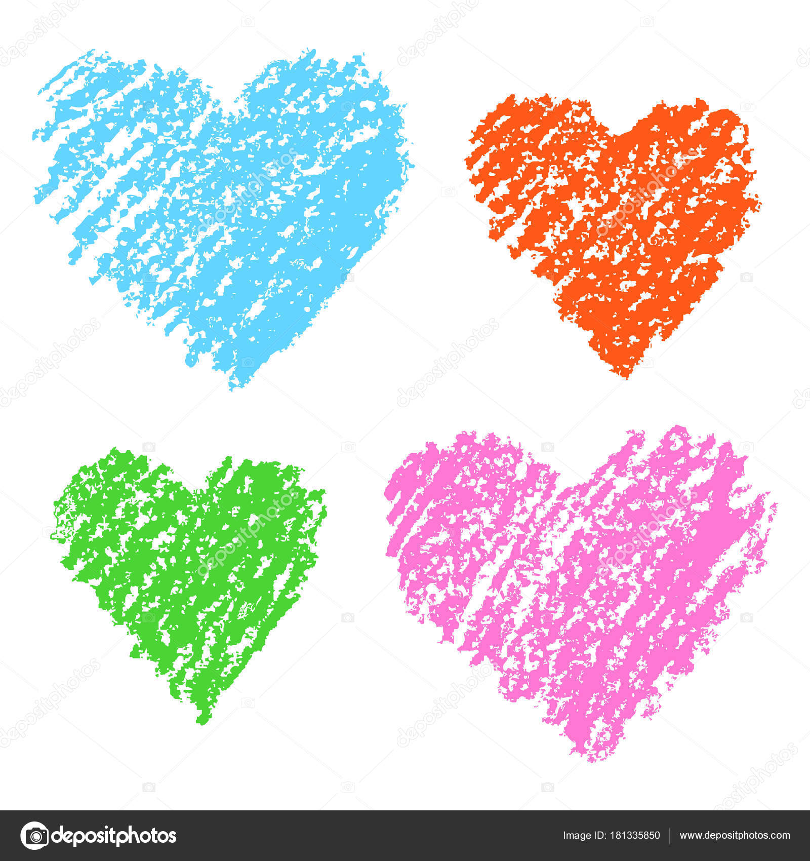 Couleur Illustration Avec Amour Coeur Blanc Série Coeurs