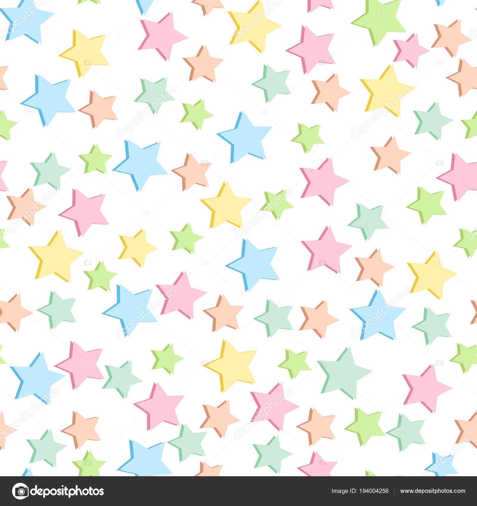 Fondo color pastel con estrellas