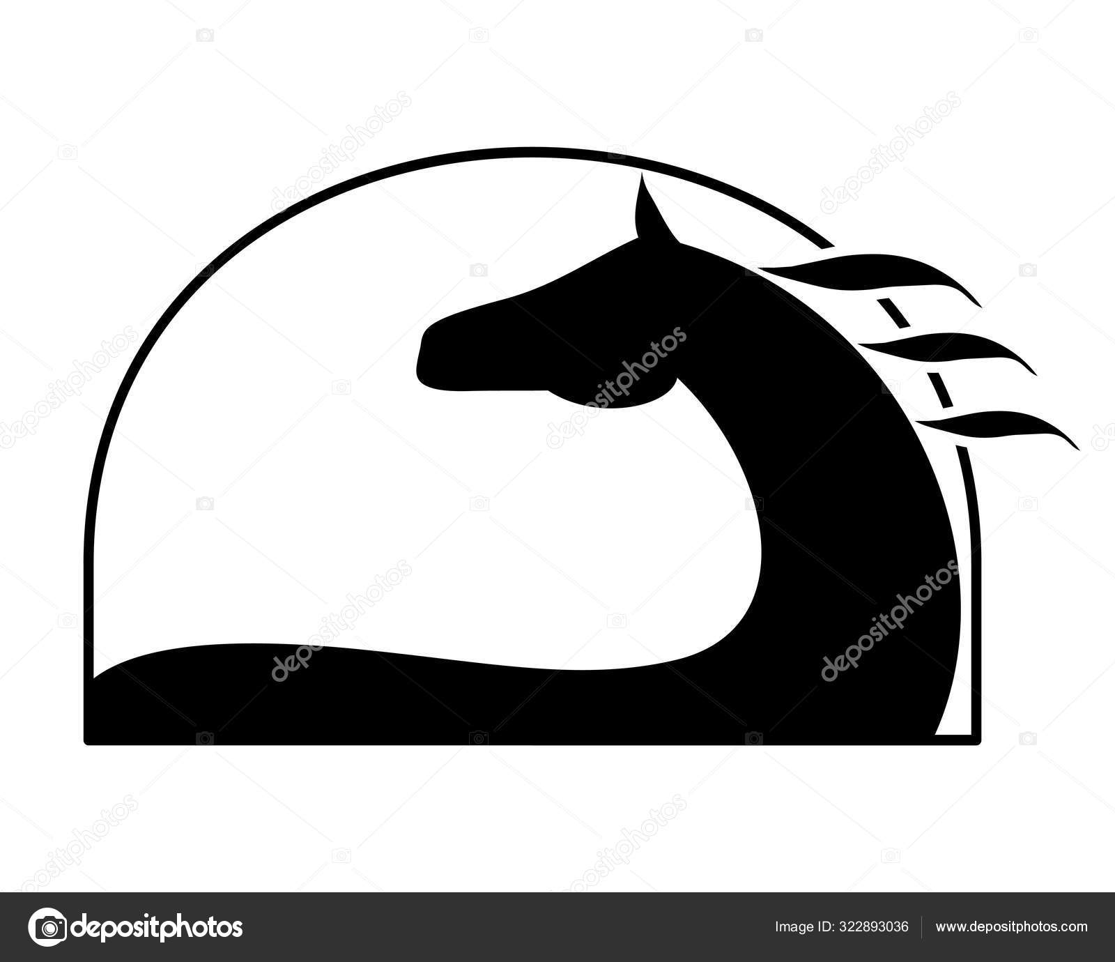 Horse Silhouette Symbol Equine Logo Isolated White Background Vector Equestrian Stock Vector C Larisa Zorina 322893036