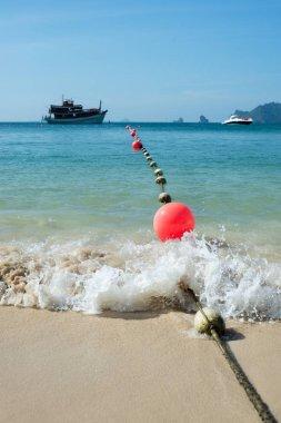 String of marker buoys