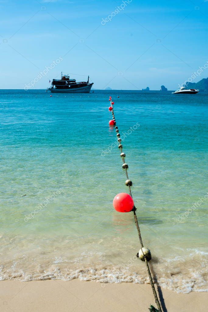 String of marker buoys