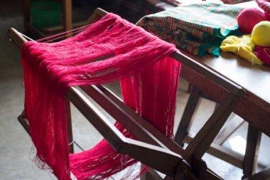 Red weaving yarn