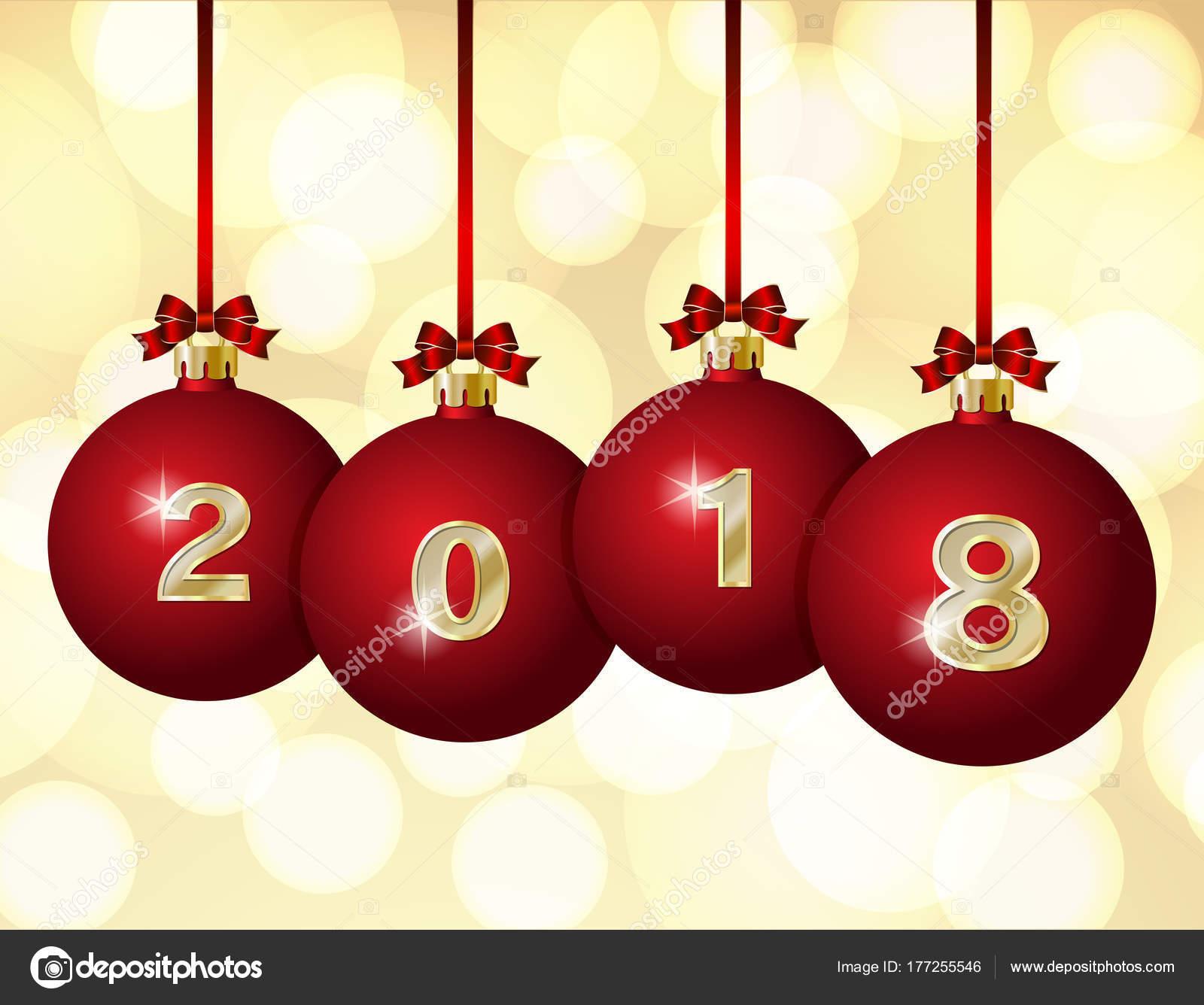 glass christmas balls 2018 stock vector - Glass Christmas Balls