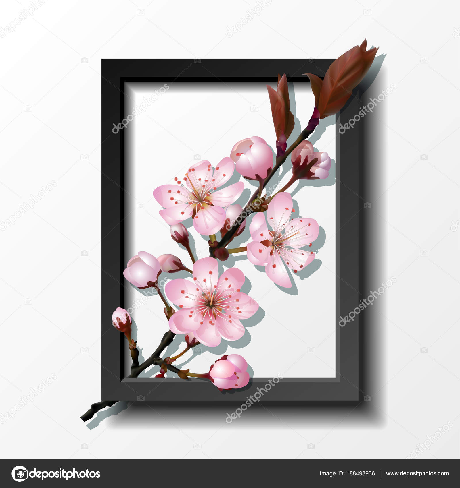 Arbol De Cerezo Dibujo Anime Ramo De Flores De Cerezo Rosa Sakura