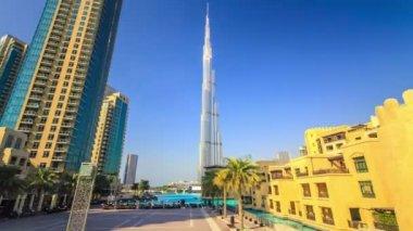 Dubai city with overlooking of Burj Khalifa