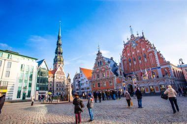 Riga Latvia Old City Squareat November 2017