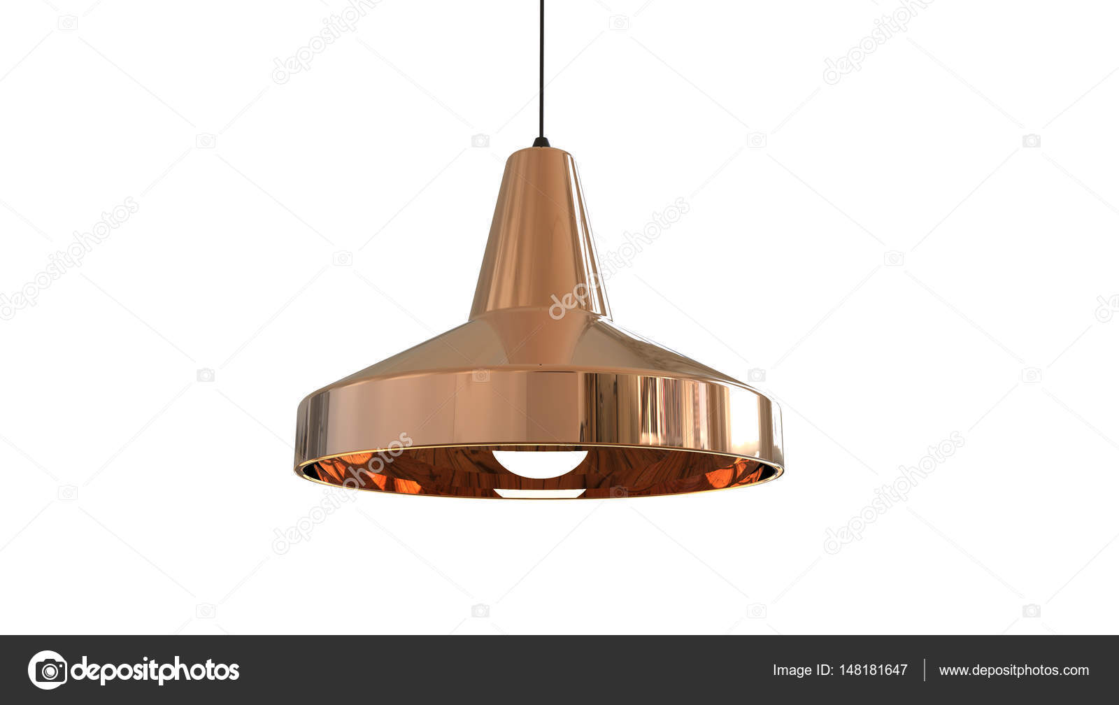 Lampada In Rame Design : Concetto della lampada a sospensione in rame d illustrazione