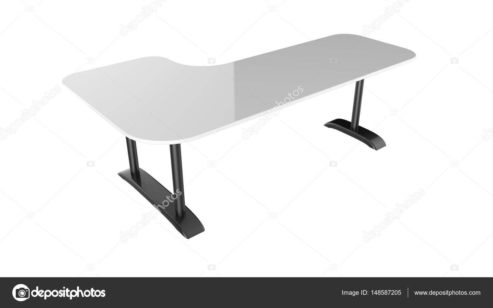 Tavolo Ufficio Bianco : Rendering 3d di tavolo ufficio bianco isolato su priorità bassa