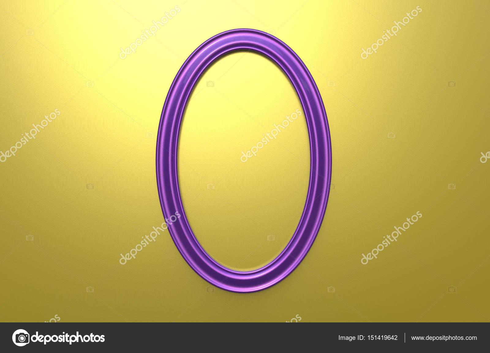 representación 3D del marco moderno del colgante de color púrpura en ...