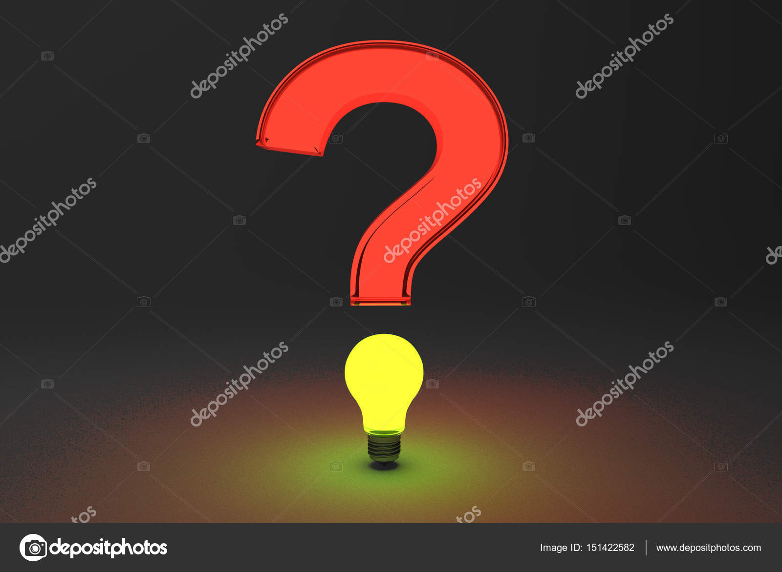3d Rendering Of Cool Question Mark On A Black Background Stock