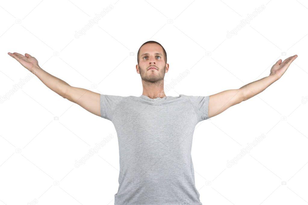 Freedom Yoga Pose — Stock Photo © dandesign86 #153018204