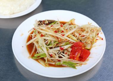 Thai papaya salad.