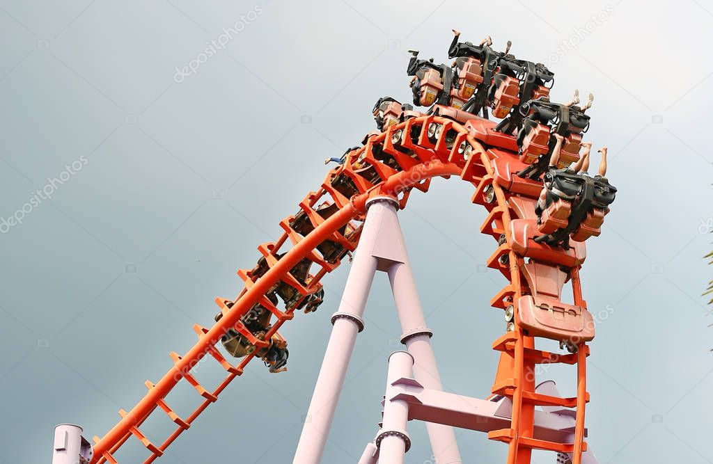 A Roller Coaster Track and Ride