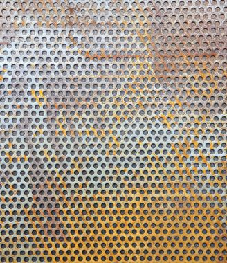 Rusty metal grille background