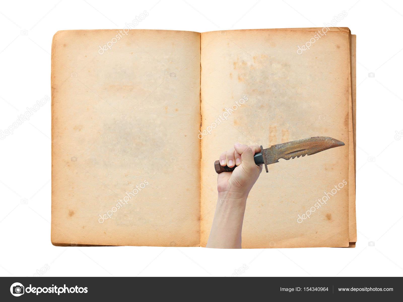 Livre Ancien Ouvert Avec L Image De La Main Tenant Le