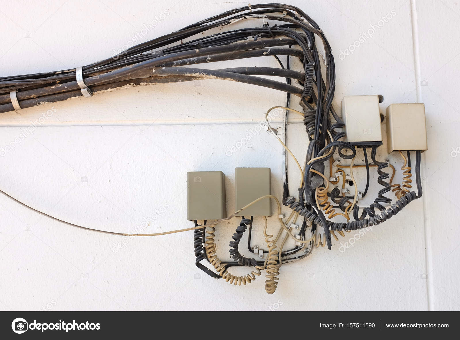 Fabulous Old Telephone Box System Control Stock Photo C Civic Dm Hotmail Wiring 101 Capemaxxcnl