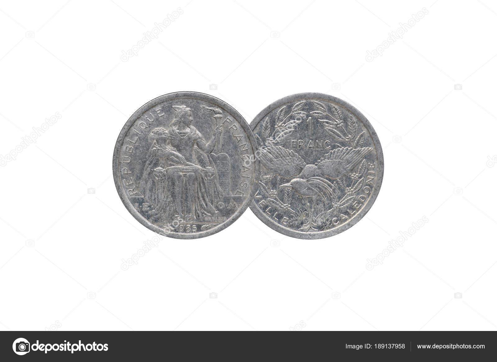 Alte Französische Münze Aus Frankreich Jahr 1985 Isoliert Auf Weißem