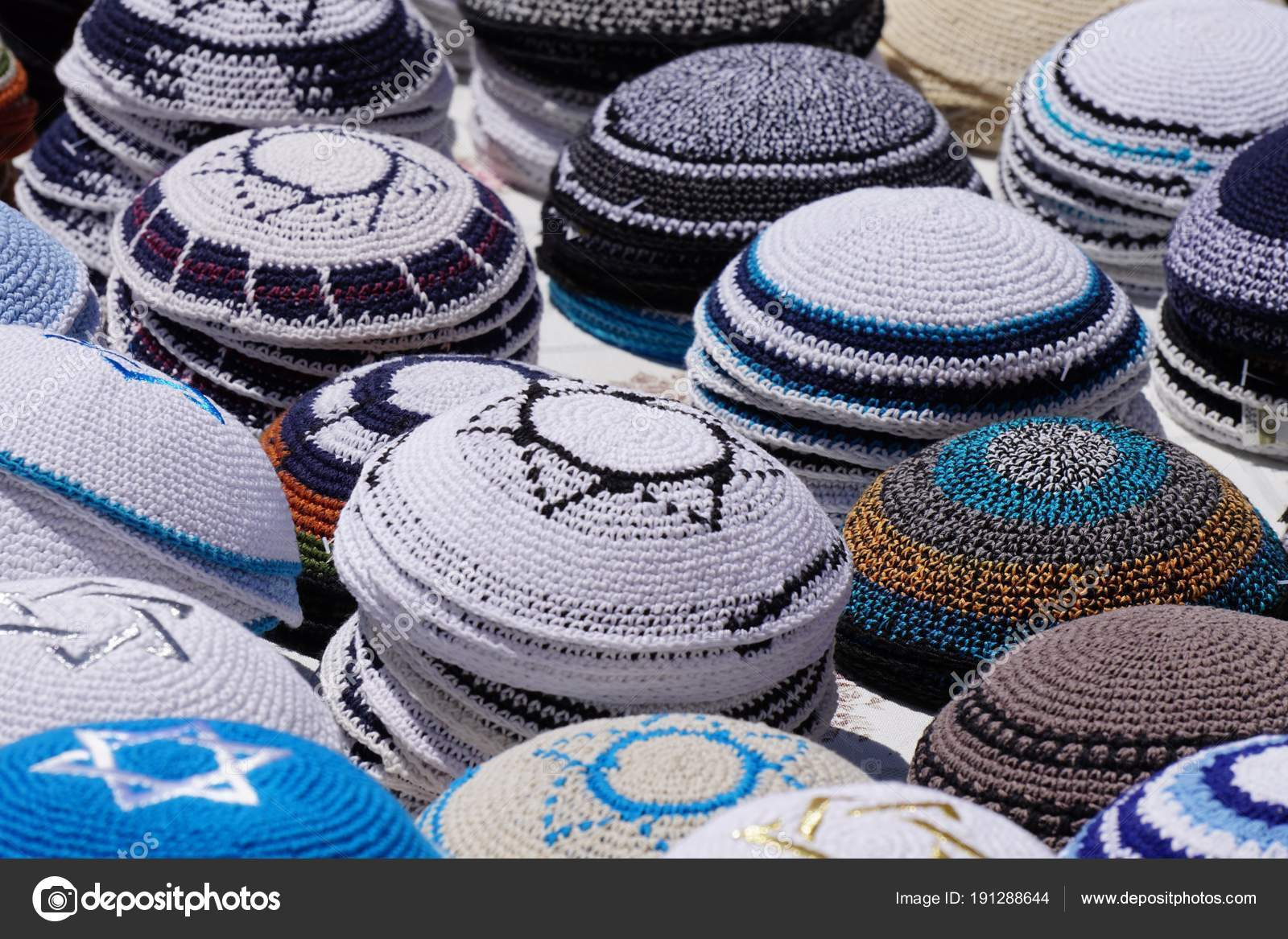 Kippa Coiffure Juive Traditionnelle Israel Photographie
