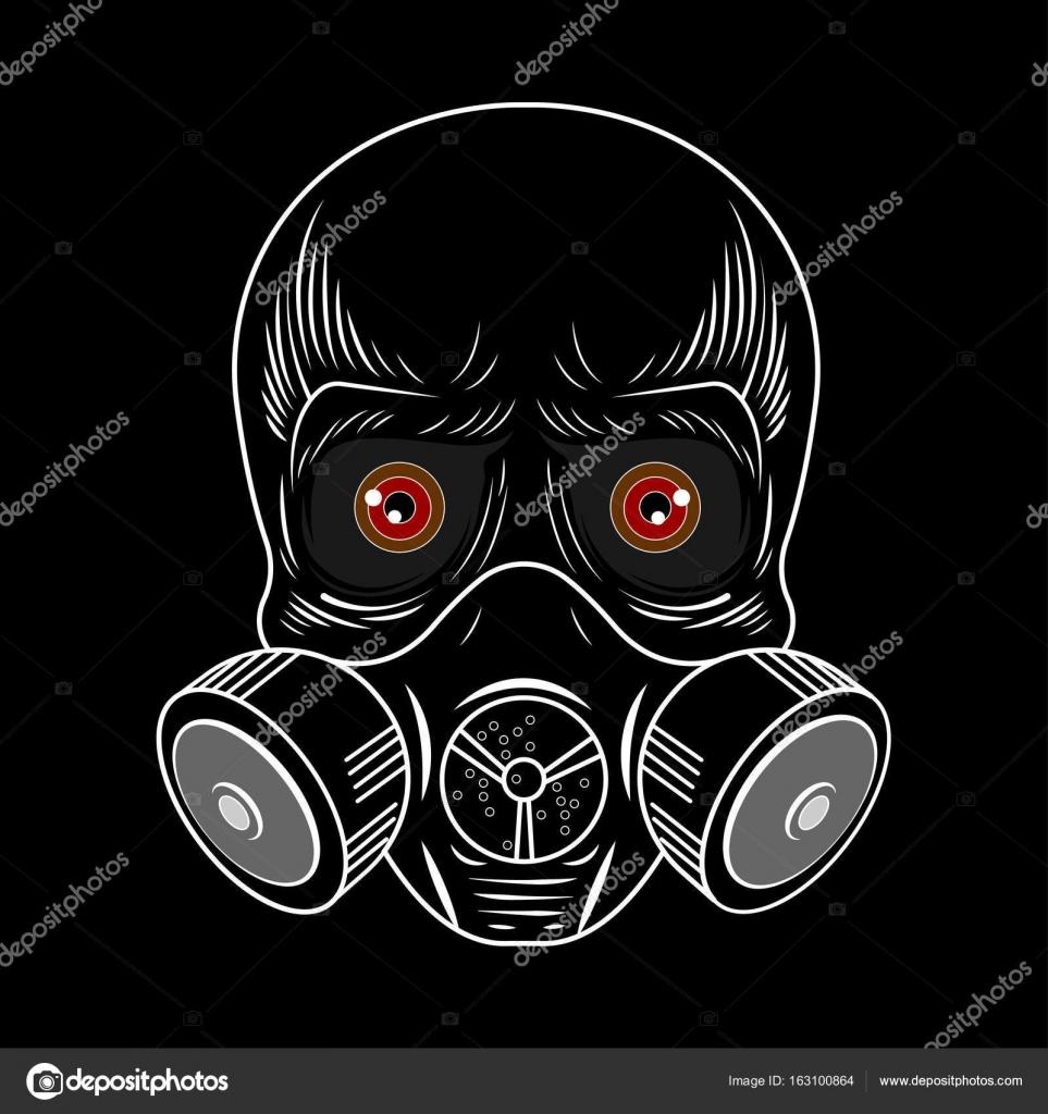 ilustração de máscara de gás do crânio vetor de stock zagoya123