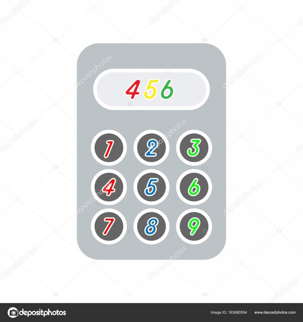 Simple calculator icon — Stock Vector © zagoya123@gmail com #163680554