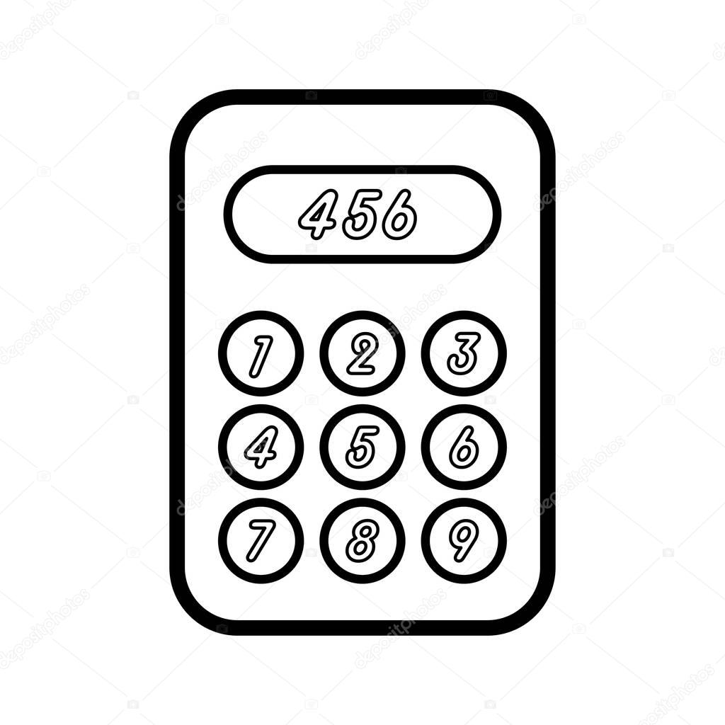 simple calculator icon stock vector zagoya123 gmail 163681040 Plotter Icon