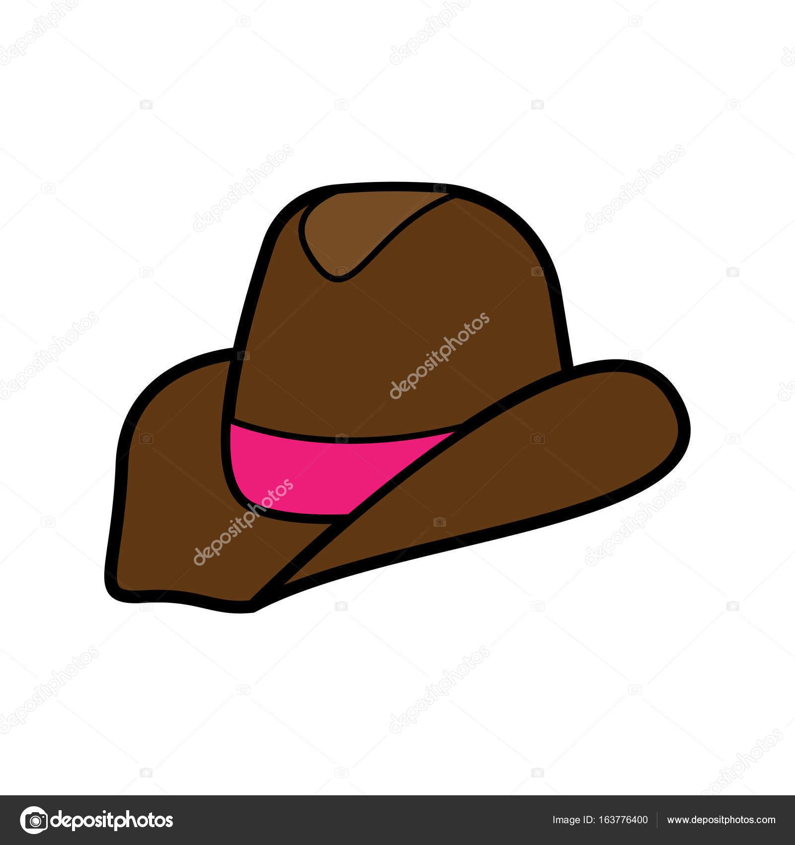Cowboyhut Und Stiefel Vektor Hand Gezeichnet Vektor